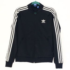 ADIDAS BOMBER WITH FRONT ZIPPER AND SIDE POCKETS
